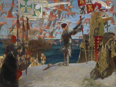 Columbus in the New World, 1906-Edwin Austin Abbey-Giclee Print