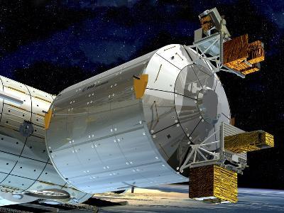 Columbus Module of the ISS, Artwork-David Ducros-Photographic Print