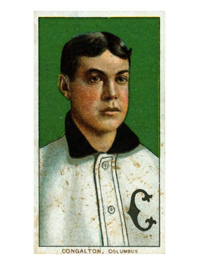 Columbus, OH, Columbus Minor League, Bunk Congalton, Baseball Card-Lantern Press-Art Print