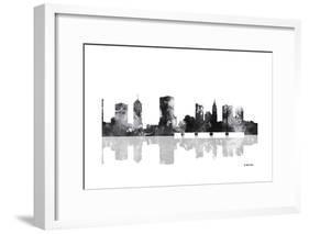 Columbus Ohio Skyline BG 1-Marlene Watson-Framed Giclee Print