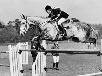 Columbus the Horse of Princess Anne Clearing Obstacale in Jumping Section of Windsor Horse Trials
