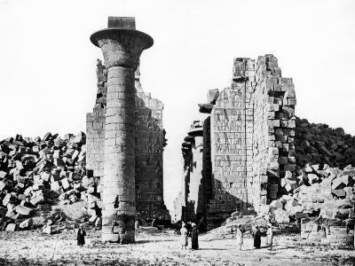 Column and Ruins, Nubia, Egypt, 1887-Henri Bechard-Giclee Print
