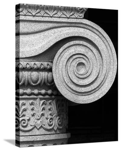 Column detail, U.S. Treasury Building, Washington, D.C. - Black and White Variant-Carol Highsmith-Stretched Canvas Print