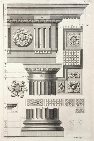 Column & Rosettes-Abraham Swan-Premium Giclee Print