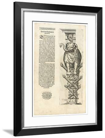 Column with Figure of an Elephant, 1604-Joseph Boillot-Framed Giclee Print