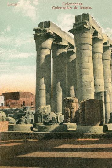 Columns at Luxor--Art Print