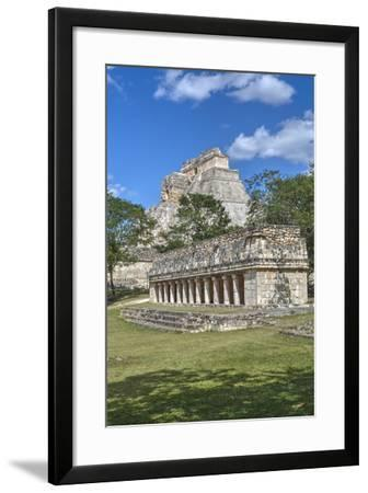 Columns Building in Foreground with Pyramid of the Magician Beyond-Richard Maschmeyer-Framed Photographic Print