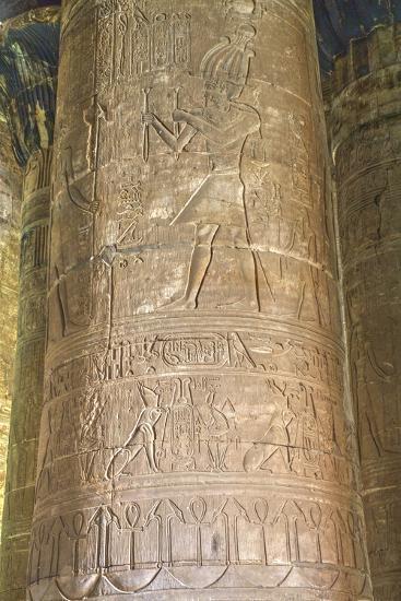 Columns in the Hypostyle Hall, Temple of Horus, Edfu, Egypt, North Africa, Africa-Richard Maschmeyer-Photographic Print
