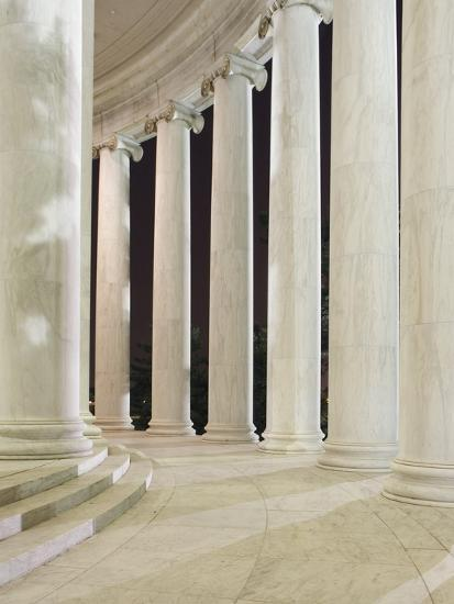 Columns Inside the Jefferson Memorial-William Manning-Photographic Print