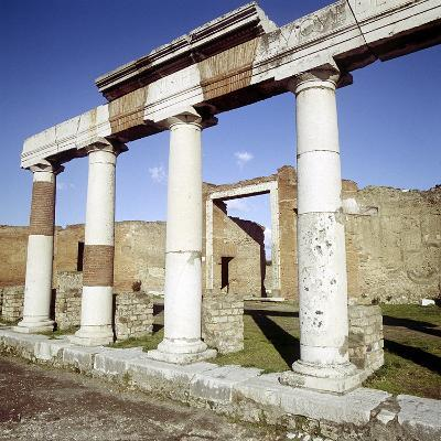 Columns of the Colonnade Round the Forum, Pompeii, Italy-CM Dixon-Photographic Print