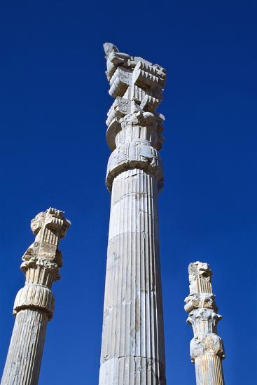 Columns of Xerxes Gateway Against Clear Sky-Design Pics Inc-Photographic Print