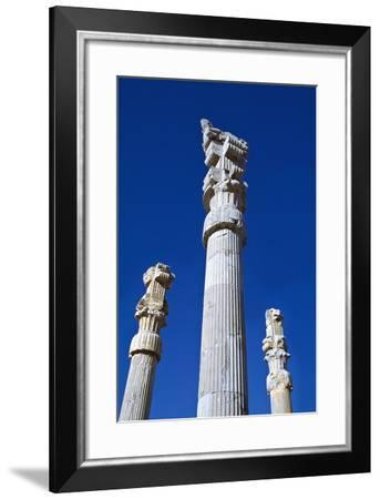 Columns of Xerxes Gateway Against Clear Sky-Design Pics Inc-Framed Photographic Print