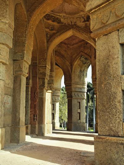 Columns on Tomb of Mohammed Shah, Lodhi Gardens, New Delhi, India-Adam Jones-Photographic Print