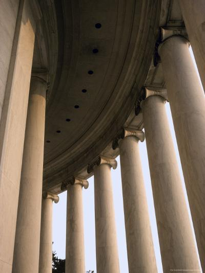 Columns Surround the Jefferson Statue at the Jefferson Memorial-Rex Stucky-Photographic Print