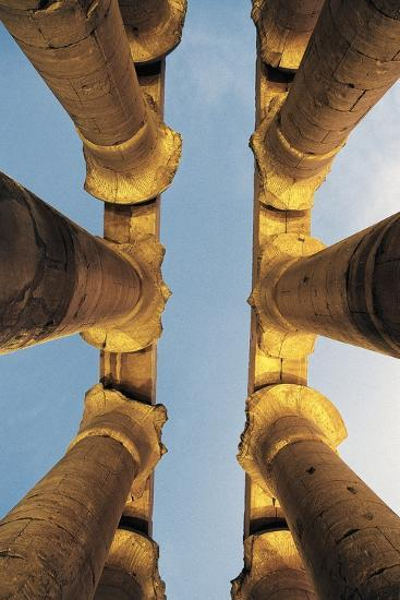 Columns, Temple of Luxor at Sunset, Luxor, Thebes--Photographic Print