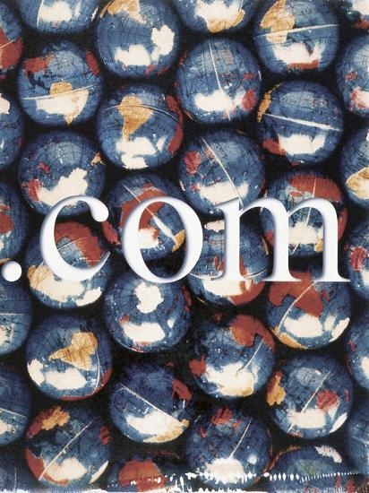 Com with Background of Globes-Robert Cattan-Photographic Print