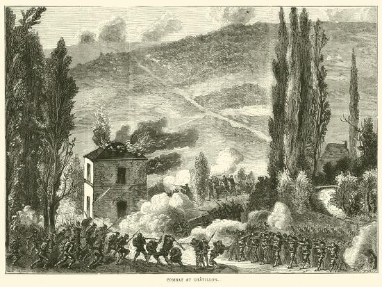 Combat at Chatillon, October 1870--Giclee Print
