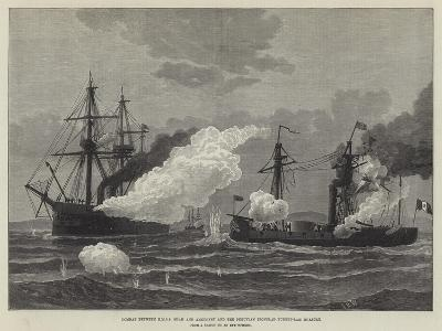 Combat Between Hmss Shah and Amethyst and the Peruvian Ironclad Turret-Ram Huascar--Giclee Print