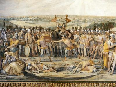 Combat Between Horatii and Curiatii-Giuseppe Cesari-Giclee Print