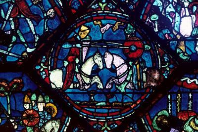 Combat Between Roland and King Marsile, Stained Glass, Chartres Cathedral, France, 1194-1260--Photographic Print