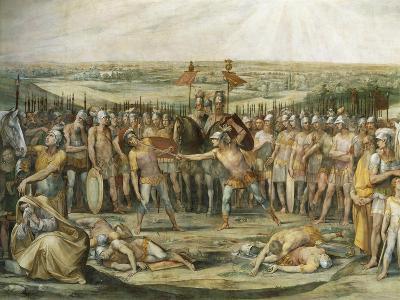 Combat Between the Horatii and Curiatii-Giuseppe Cesari-Giclee Print