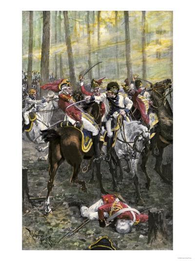 Combat during the Battle of Cowpens, c.1781--Premium Giclee Print