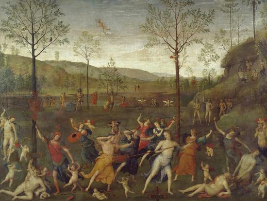 Combat of Love and Chastity-Pietro Perugino-Giclee Print