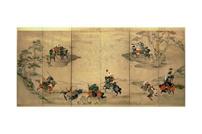 Combat Scenes, Edo Period, 18th Century--Giclee Print