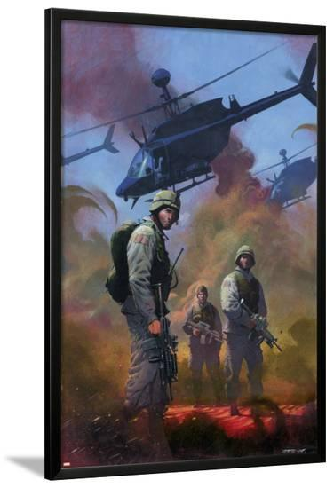 Combat Zone: True Tales Of GIs In Iraq Cover: Marvel Universe-Dan Jurgens-Lamina Framed Poster