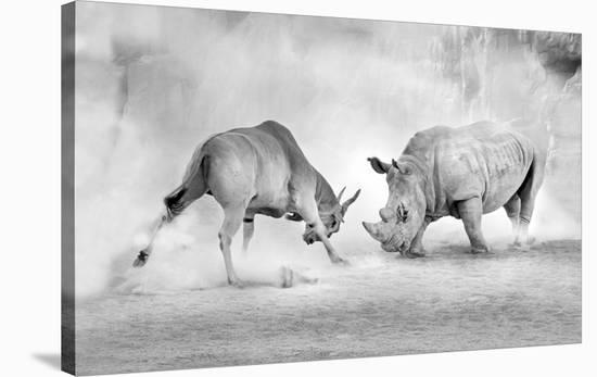 Combat-Juan Luis Duran-Stretched Canvas Print