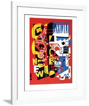 Combination Concrete-Stuart Davis-Framed Art Print