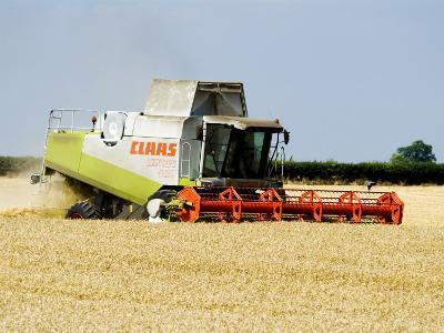 Combine Harvester, England-Martin Page-Photographic Print