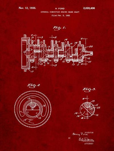 Combustion Engine Crank Shaft 1933-Cole Borders-Art Print