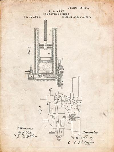 Combustion Engine Patent 1877-Cole Borders-Art Print
