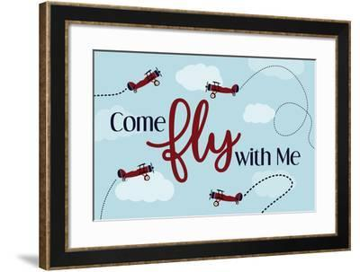 Come Fly with Me-ND Art-Framed Art Print