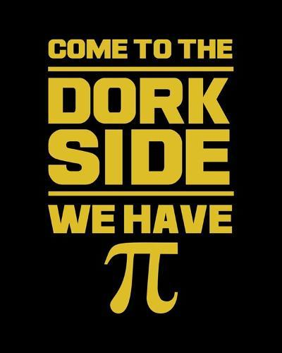 Come To The Dork Side Black-Color Me Happy-Art Print