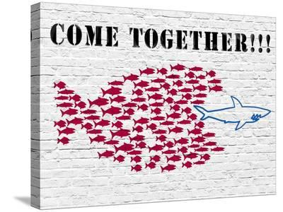 Come together!!!-Masterfunk collective-Stretched Canvas Print