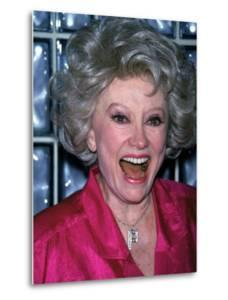 Comedian Phyllis Diller Laughing