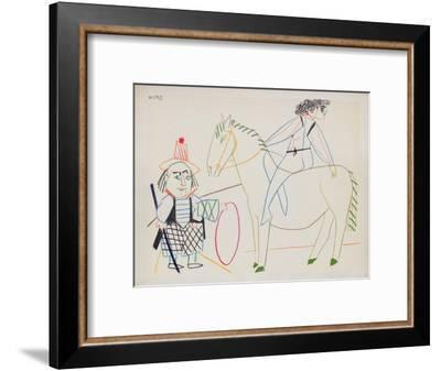 Comédie Humaine : 30.1.54. II-Pablo Picasso-Framed Premium Edition