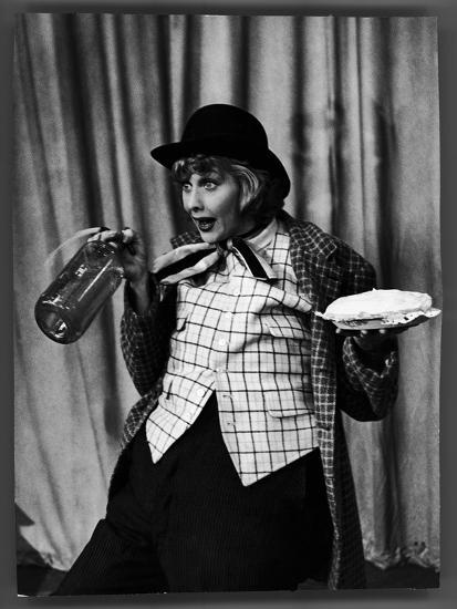 """Comedienne Lucille Ball Clowns During TV Episode of """"I Love Lucy""""-Loomis Dean-Premium Photographic Print"""