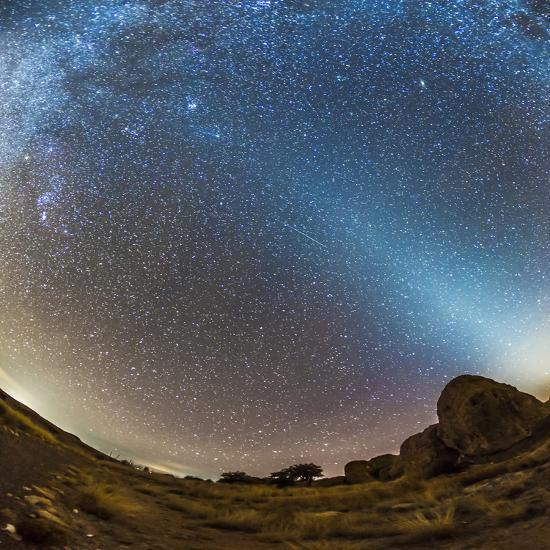 Comet Lovejoy and Zodiacal Light in City of Rocks State Park, New Mexico-Stocktrek Images-Photographic Print