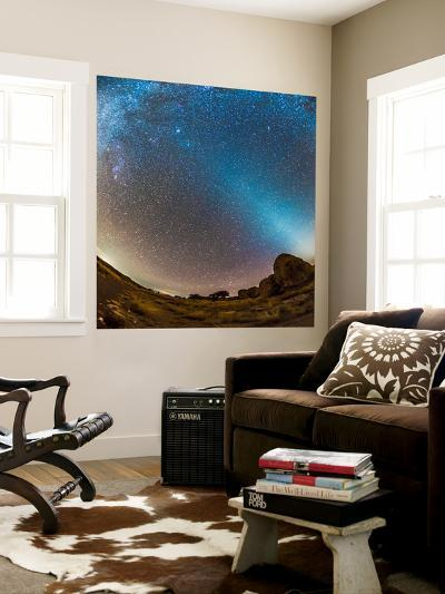 Comet Lovejoy and Zodiacal Light in City of Rocks State Park, New Mexico-Stocktrek Images-Wall Mural