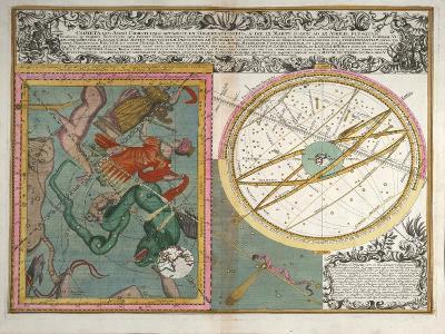 Cometa, Qui Anno Christi, 1742-Matthaeus Seutter-Giclee Print