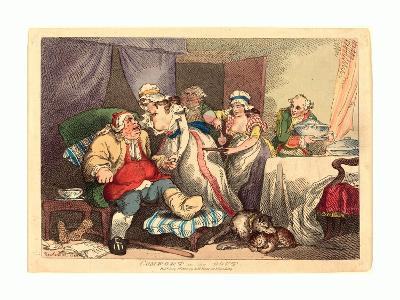 Comfort in the Gout, 1785, Hand-Colored Etching, Rosenwald Collection-Thomas Rowlandson-Giclee Print