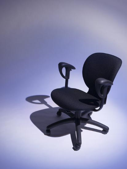 Comfortable Black Office Chair--Photographic Print