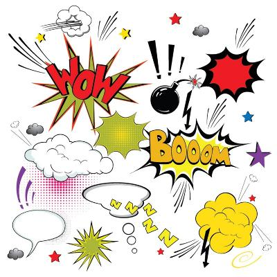 Comic Speech Bubbles- Agan-Art Print