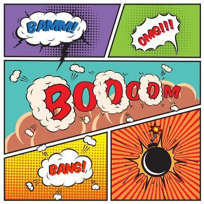 Comic Speech Bubbles-Macrovector-Art Print
