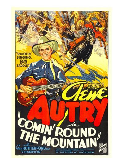 Comin' Round the Mountain, Gene Autry, Smiley Burnette, 1936--Photo
