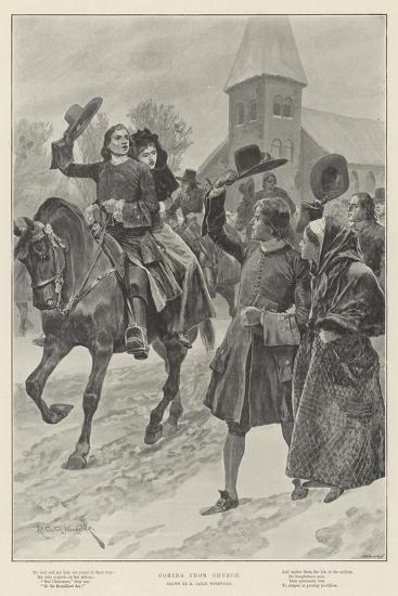 Coming from Church-Richard Caton Woodville II-Giclee Print