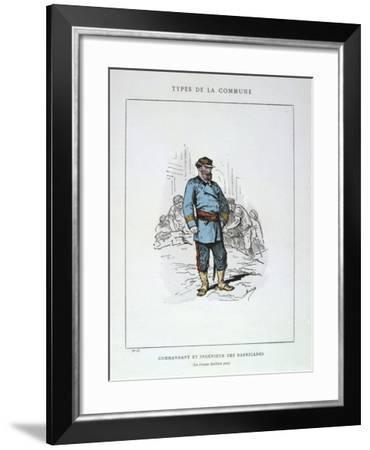 Commandant Et Ingenieur De Barricades, Paris Commune, 1871--Framed Giclee Print
